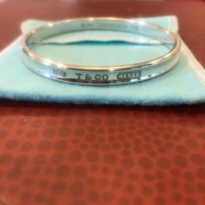 Authentic Tiffany&Co SS Concave Bangle Bracelet